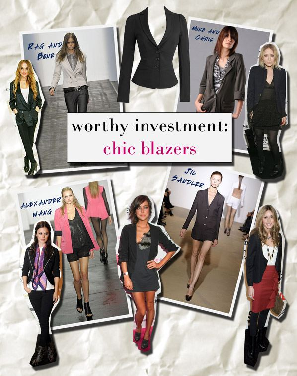 A Worthy Investment: Chic Blazers | a new mode :  fashion trends smythe elizabeth and james rachel bilson