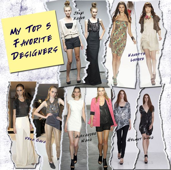 My 5 Favorite Designers | a new mode