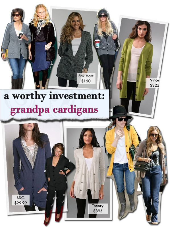A Worthy Investment: Grandpa Cardigans | a new mode :  erik hart fashion trend mode fashion style