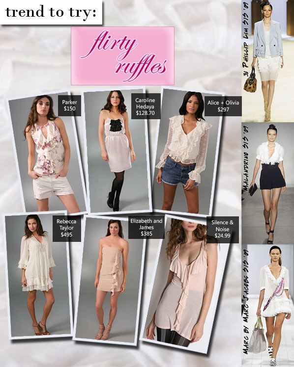 Trend to Try: Flirty Ruffles | a new mode :  rebecca taylor fashion style elizabeth and james black halo