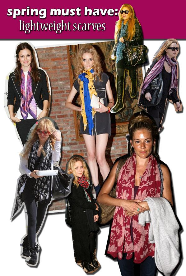 Spring Must-Have: Lightweight Scarves | a new mode :  anna sui scarves fashion style what comes around goes around
