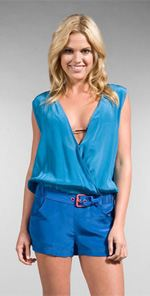 marc, Marc by Marc Jacobs, romper, fashion, style, trend, blue romper, belted romper
