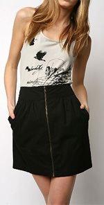 silence1, Silence & Noise, skirt, miniskirt, zipper skirt, fashion, style