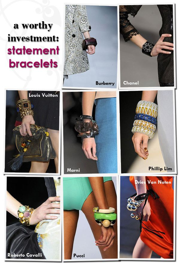 A Worthy Investment: Statement Bracelets | a new mode :  pucci dries van noten roberto cavalli phillip lim