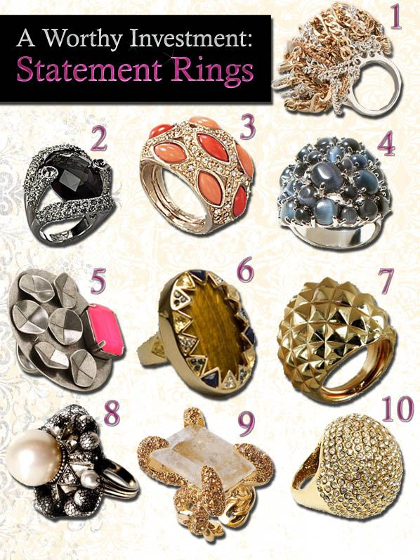 A Worthy Investment: Statement Rings post image