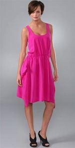 thakoon, dress, pink dress, fashion, style, trend