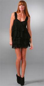 Caroline Hedaya, dress, black dress, lace dress, fashion, style, lbd