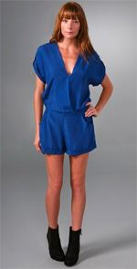cynthia vincent, twelfth st. by cynthia vincent, romper, blue romper, fashion, style