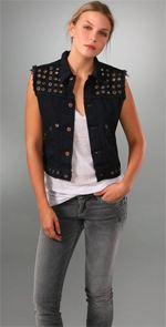 vest, studded vest, fashion, style, vintage vest