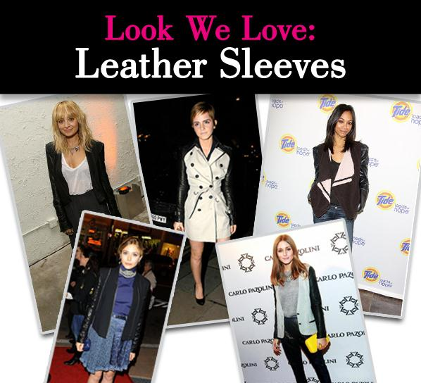 Look We Love: Leather Sleeves post image