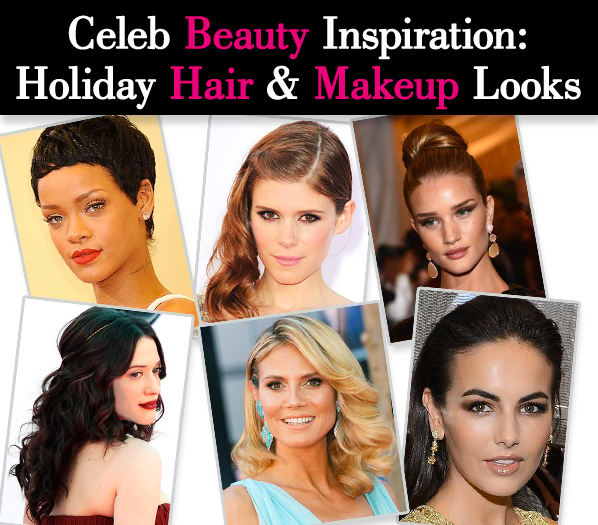 Celeb Beauty Inspiration: Holiday Hair and Makeup Looks post image