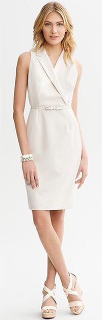 Ivory Belted Dress