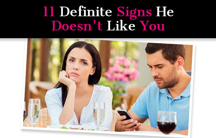 11 Definite Signs He Doesn't Like You post image